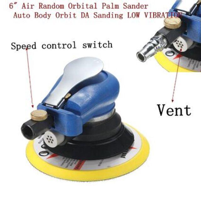 6 150mm Air Random Orbital Palm Sander Auto Car Body Orbit Da Sanding Tool Kit For Online Ebay