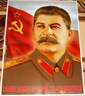 JOSEPH IOSIF STALIN SOVIET RUSSIAN USSR  PROPAGANDA Poster