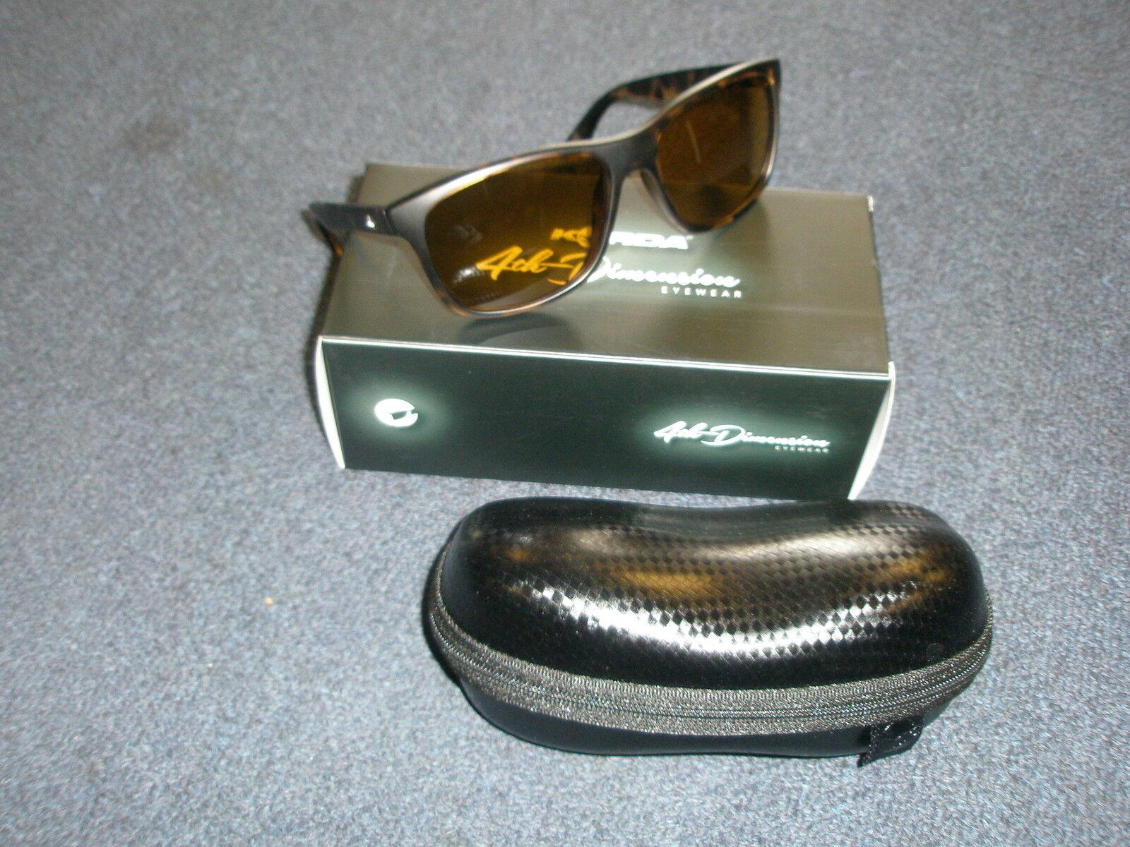 Korda 4th Dimension Polarised Sunglasses Classics DemiTortoise Gelb Lens K4D07