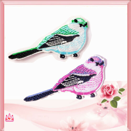 2Pcs Embroidery bird Patch Badge Bag Clothes Fabric Applique DIY OZ