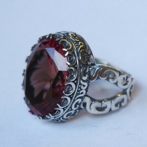 Turkish Jewelry 925 Sterling Silver Alexandrite Stone Men/'s Ring Size 9 10 11