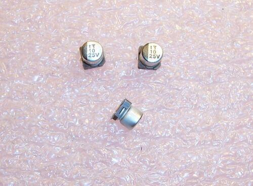 10uf 25V SMD ALUMINUM ELECTROLYTIC CAPACITOR UWX1E100MCR1GB NICHICON QTY 50