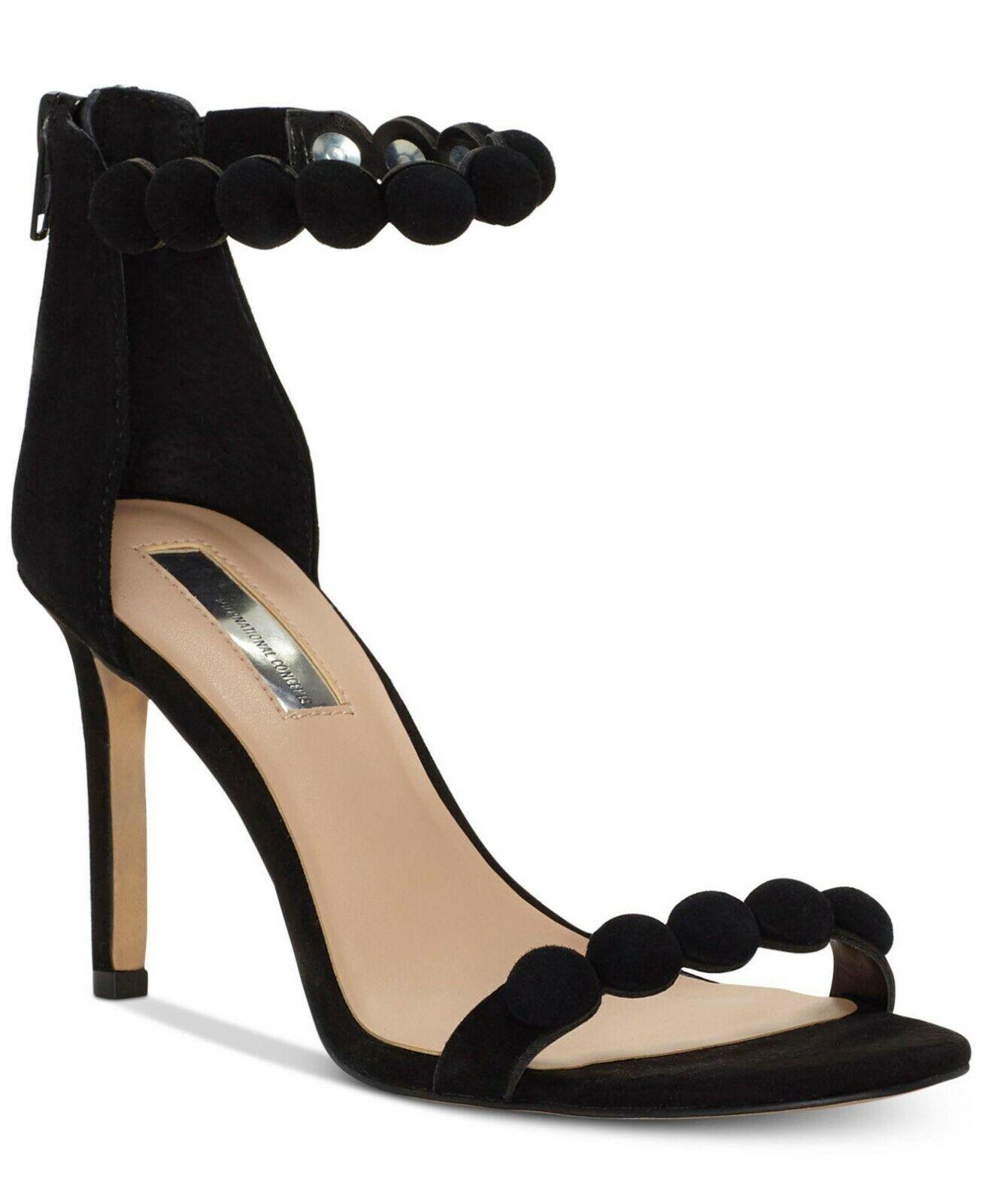 INC International Concepts Women's Gabbye Two-Piece Sandals Size 9.5M Black
