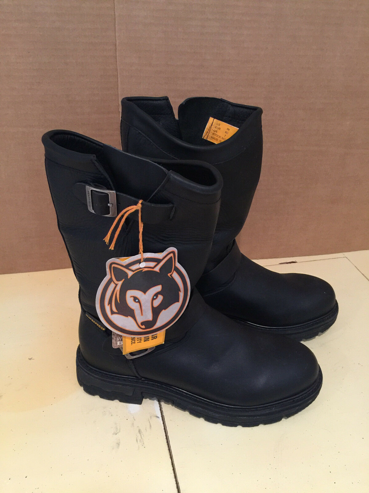 FOX  BIKER Stiefel NEW LADIES LEATHER 12  SZ 8M WATERPROOF NO BOX  99 retail