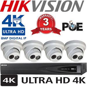 HIKVISION-4CH-DS-7604NI-K1-4P-NVR-4K-UHD-8MP-DS-2CD2383GO-I-IP-POE-CAMERA-SYSTEM