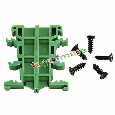 PCB Din C45 Rail Adapter Circuit Board Mounting Bracket Holder Carrier 35mm
