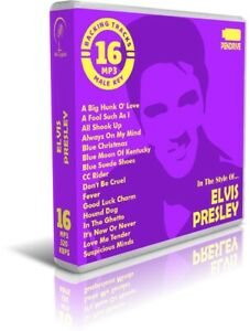 16-Backing-Tracks-MP3-In-The-Style-Of-ELVIS-PRESLEY-Pendrive-USB-Listen-Demos