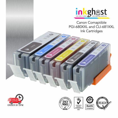 Inkghost Ink Cartridges PGI-680XXL CLI-681XXL for Canon TS-9160 TS-8160 9560