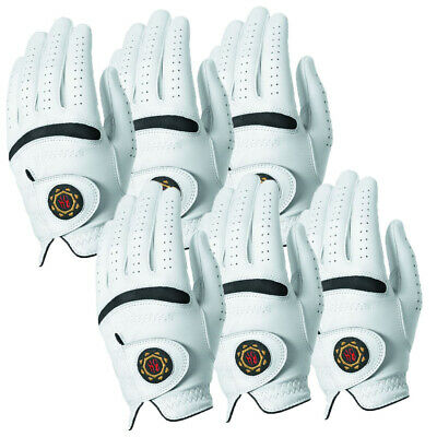 Ben Hogan Legend Men S Leather Golf Gloves White 6 Pack Pick Size Ebay