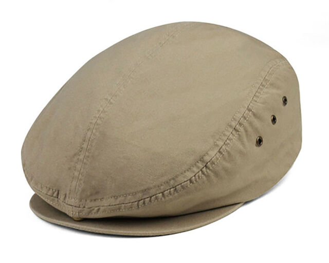 12ed7061bc5 MG W11s64c Ivy Cap Washed Canvas Flat Driving Newsboy Hat Duckbill ...