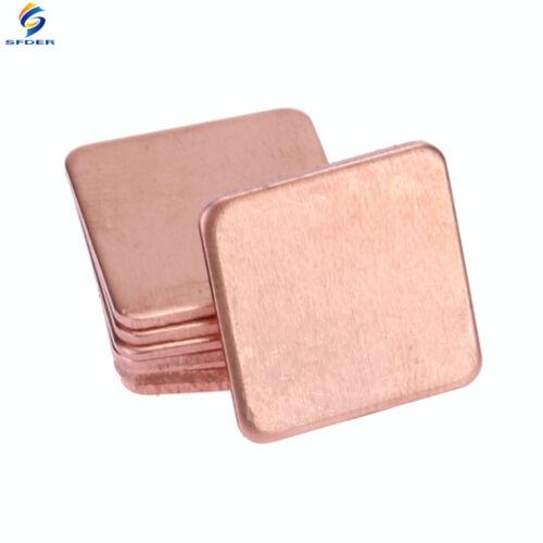 10pcs//lot Copper Shim Pad 20x20mm Heatsink Copper Shim Thermal Conductive Pads