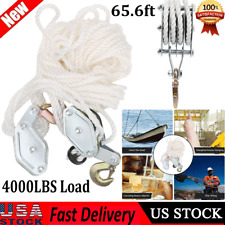 2ton Lifter Hoist Pulley Galvanized Steel Hook Lifting Pulley Block Tool With Rope