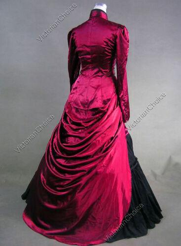 Steampunk Edwardian Vampire Riding Habit Bustle Dress Halloween Costume 139