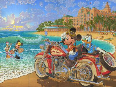 Mickey And Minnie Mouse Daisy Duck Hawaii Beach Ceramic Tile Mural Backsplash Ebay