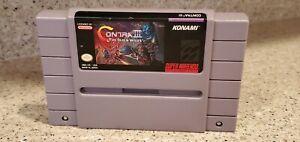Contra-III-3-The-Alien-Wars-Super-Nintendo-SNES-Video-Game-Cartridge-lot-TESTED