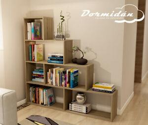 Libreria-Estanteria-en-forma-de-escalera-diseno-en-blanco-o-roble