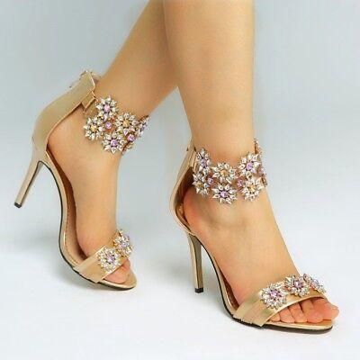 gold open toe sandal heels