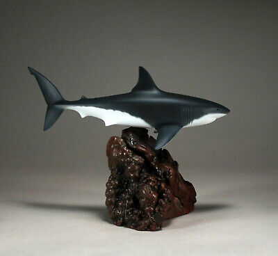 HAMMERHEAD SHARK Sculpture New direct from JOHN PERRY 12in long Airbrushed Decor