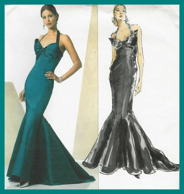 Vogue V2931 18 22 Sewing Pattern Vintage 1920s Gown Breast Bow