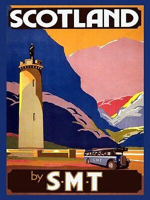 Scotland United Kingdom Landscape Travel Tourism Vintage Poster Repro FREE S/H