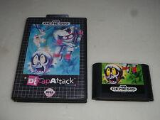SEGA GENESIS VIDEO GAME DECAP ATTACK W CASE DE CAP