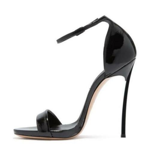 Details about  /12cm Womens Stiletto High Heels Open Toe Evening Party Club Pumps Buckle Sandals