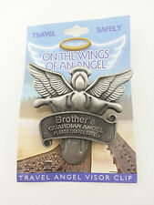 2-3//8-Inch Guardian Angel Cathedral Art KVC103 Auto Visor Clip