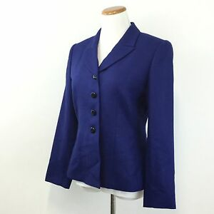 Womens-LE-SUIT-Sz-6-Blue-Blazer-Jacket-Fully-Lined-Career-Professional-Size-6