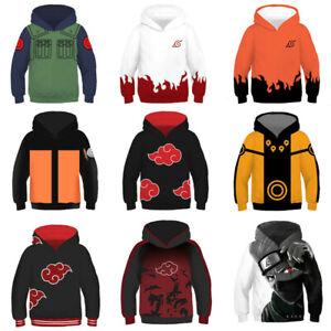 Naruto0 Akatsuki Cosplay 3D Print Kids Boys//Girls Hoodie Sweatshirt Pullover