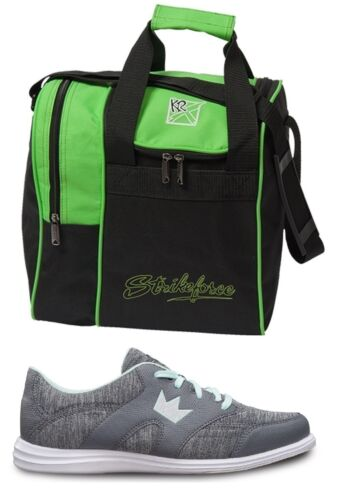 Womens KARMA SPORT Grey//Mint Bowling Shoes Sizes 6-11  /& Green 1 Ball Bag NEW