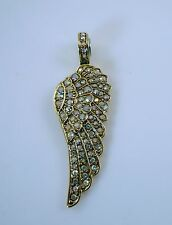 Kirks Folly Fly Home Angel Wing Magnetic Enhancer  Goldtone AB crystals