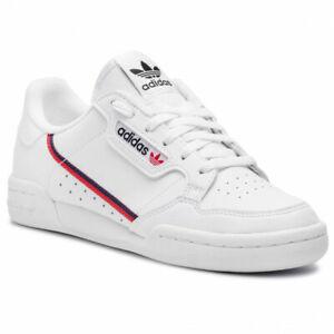 Scarpe-Sportive-Donna-Adidas-Continental-80-in-Pelle-Sneaker-Retro-Bianca-F99787