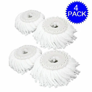 Lot Of 4 Replacement Mop Micro Head Refill For 360° Spin Mop New