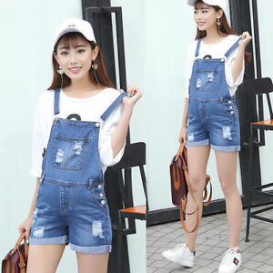cdc7a03f791 Image is loading Maternity-Jeans-Shorts-Denim-Overalls-Jumpsuits-Pants -Trendy-