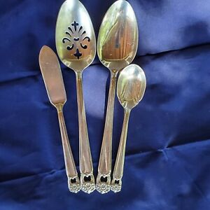 Rogers-Bros-1847-Silverplate-ETERNALLY-YOURS-Slotted-Spoon-Casserole-Spoon-But