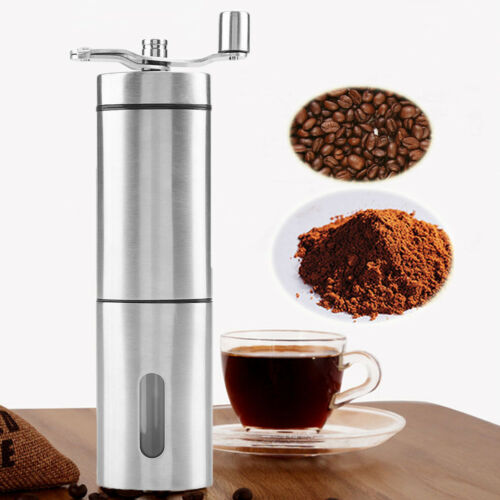 Triangle Manual Coffee Grinder Adjustable Ceramic Conical Burr Stainless Steel