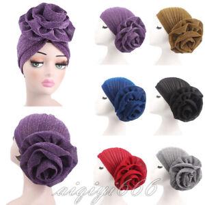 Women-Turban-India-Muslim-Beanie-Hat-Flower-Stretch-Hat-Head-Scarf-Wrap-Cap-Arab