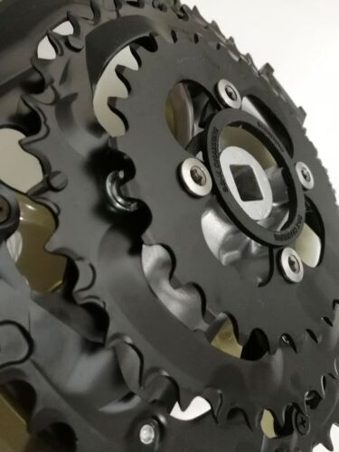 Shimano FC-M361 triple 28//38//48T 22//32//42T Bicycle Crank Chainset Silver square