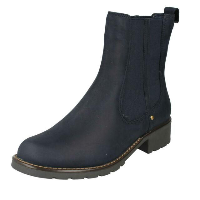 0f4275b9209c0 Ladies Clarks Chelsea Pull on BOOTS Orinoco Club UK 5.5 Navy (blue ...