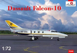 Avion daffaires DASSAULT FALCON 10, 1980  - Kit A MODEL 1/72 n? 72245