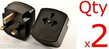 Adapter 2PK - USA US EU To UK Ireland UAE 3 Prong Plug Adaptor Type G