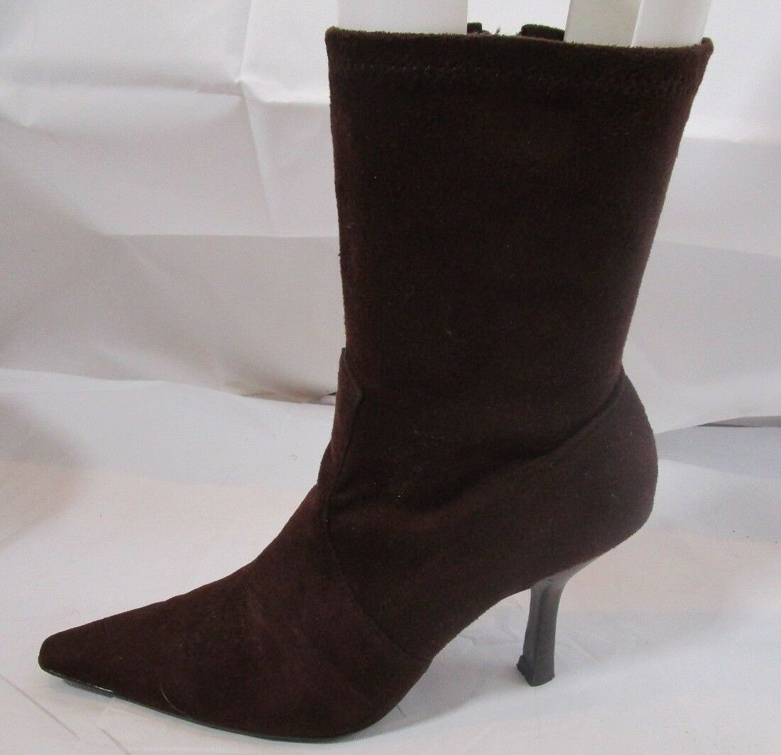 Diba Vegan Leather Brown Ankle Boot Size 6M
