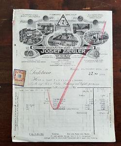 Alte-Rechnung-1912-aus-Wien-Borstenvieh-Grosschlaechterei-Josef-Ziegler-C21