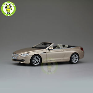 143 Bmw 650i Cabrio Open Top Diecast Car Model Gold Ebay