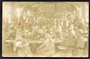 WW1-MILITARY-MESS-CELEBRATION-RPPC-ANTIQUE-PHOTO-POSTCARD