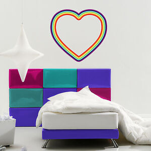 Rainbow-Heart-Wall-Decal-Wall-Sticker-Home-Decor-Wall-Mural