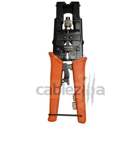 Universal Compression Crimp Tool BNC RCA F Connectors COAX RG59 RG6 Cable CATV