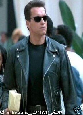 Terminator Arnold Schwarzenegger Black Jacket
