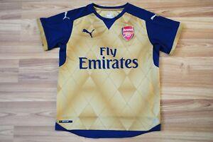 A imagem está carregando Arsenal-os-atiradores-Camisa-De-Futebol-Away-2015- c6983705dd06c