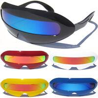 CYCLOPS SUNGLASSES Robot Alien Futuristic Color Mirror Shield Lens Party Fun New